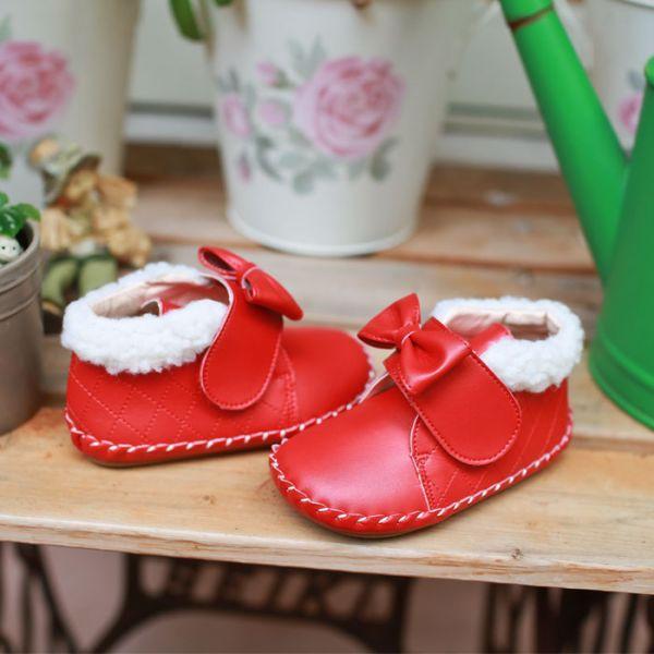 現貨 台灣製低筒雪靴寳寳靴-聖誕紅 學步鞋品牌,Little Garden,寳寳靴,低筒學步鞋,兒童雪靴,嬰兒雪靴