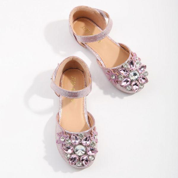 /大童/璀璨寶石 艾莎包趾涼鞋-粉色
