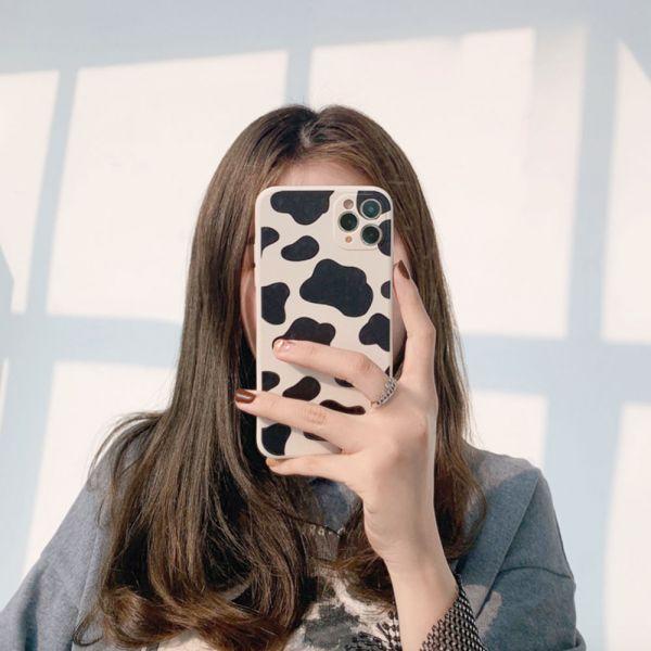 可愛乳牛紋iphone手機殼-共一色
