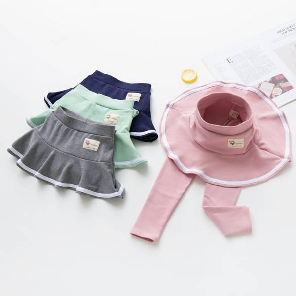 薄款運動風假兩件裙內搭褲-共三色 運動風內搭褲,女童內搭褲,假兩件