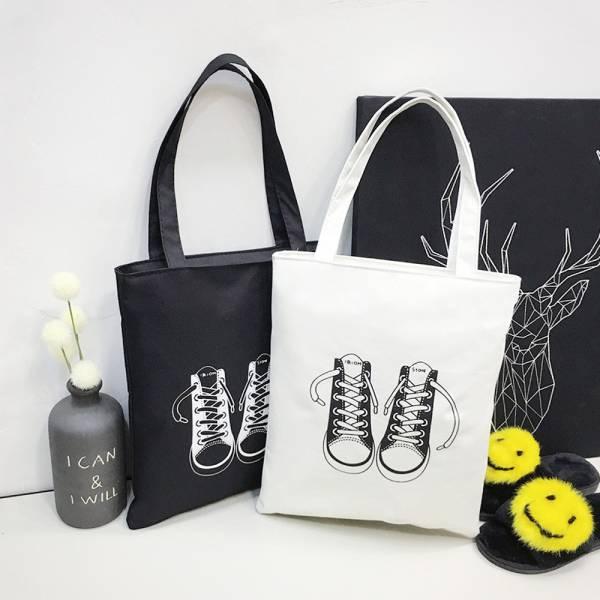 現貨 帆布環保購物袋補習袋-白色