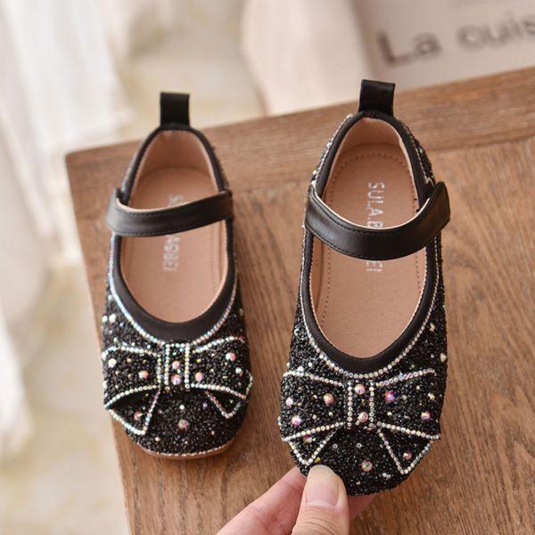 /大童/blingbling水鑽娃娃鞋-黑色