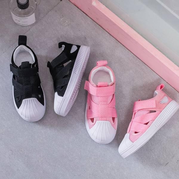 現貨 貝殼網布透氣休閒鞋-共兩色 貝殼網布透氣休閒鞋,貝殼鞋,兒童休閒鞋