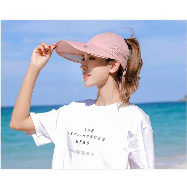 /大人/防曬好物 可伸縮空頂遮陽帽-共五色