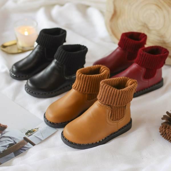 現貨 中性馬丁靴針織襪短靴-共三色 推薦童鞋,男童短靴,女童短靴,兒童馬丁靴,兒童短靴,韓版童鞋