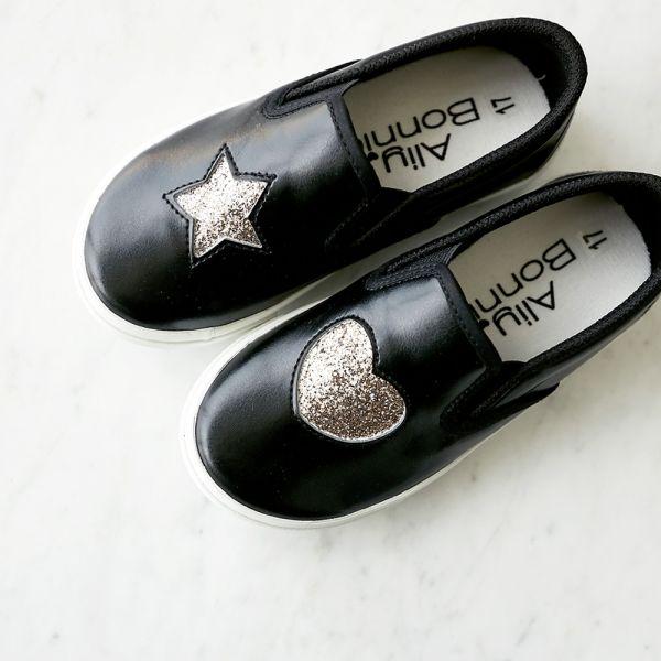 現貨 台灣製親子鞋 不對稱金蔥休閒鞋-黑色 台灣製親子鞋,兒童休閒鞋