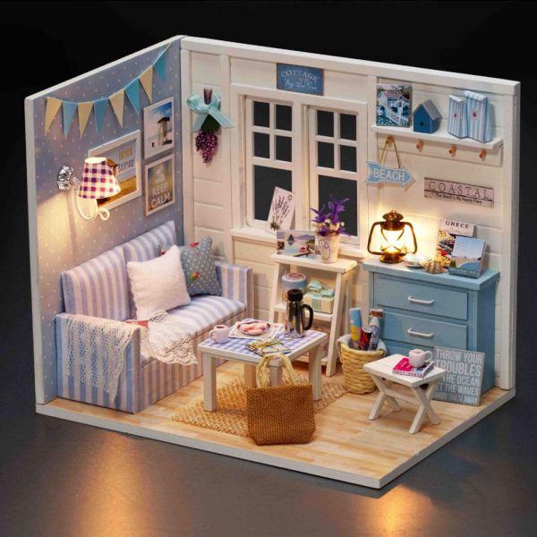 /手作/DIY小屋 手工拼裝 療癒模型北歐客廳