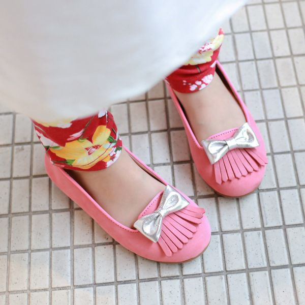 現貨零碼下殺 台灣製流蘇兒童娃娃鞋-粉色 女童娃娃鞋,台灣製造