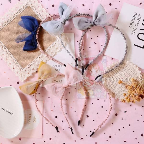 蝴蝶結網紗兒童髮箍-共五色 蝴蝶結網紗兒童髮箍,兒童髮箍