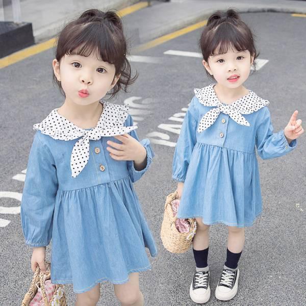 現貨 女童牛仔洋裝 長版上衣-共一色 女童牛仔洋裝,女童長版上衣