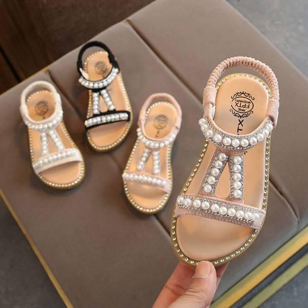 珍珠軟底公主涼鞋-共三色