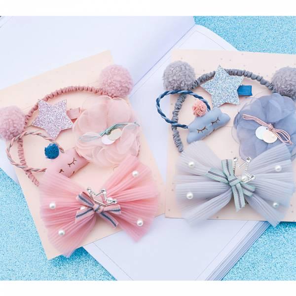 現貨 兒童飾品 小熊造型髮箍五件組-共兩色 兒童飾品,小熊造型髮箍