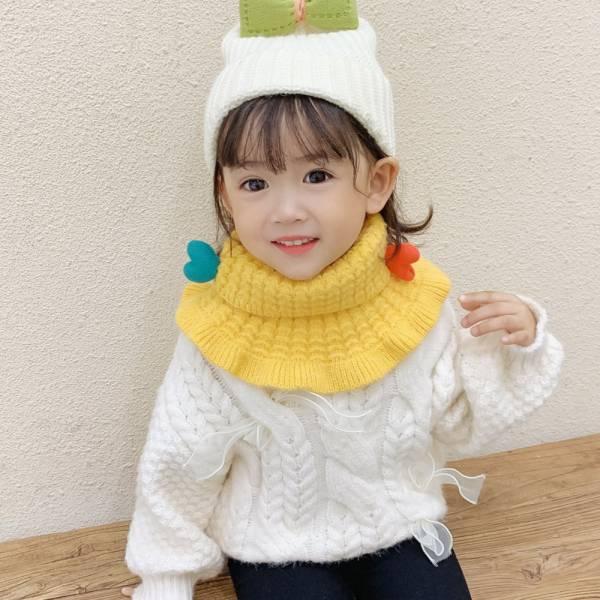 繽紛針織兒童圍脖 保暖兒童圍巾-共九色