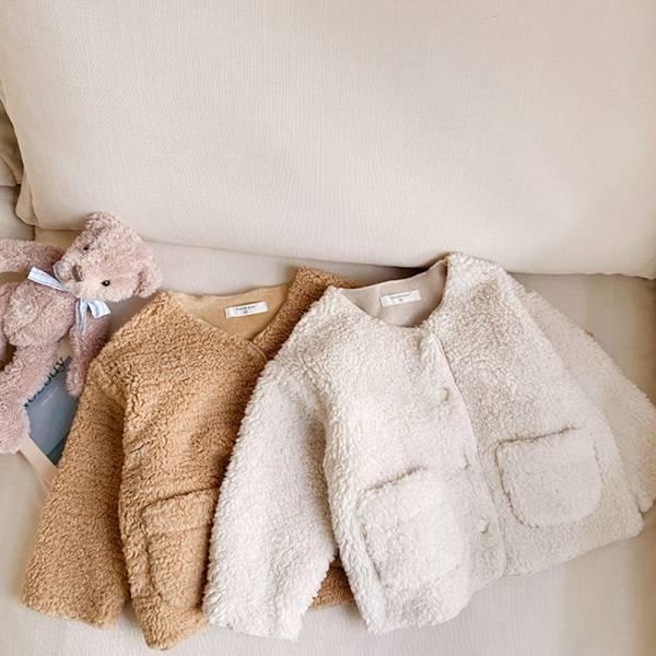 男孩女孩 毛絨絨保暖外套-共兩色