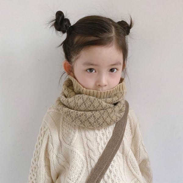 保暖小物 格紋針織兒童圍脖-共八色