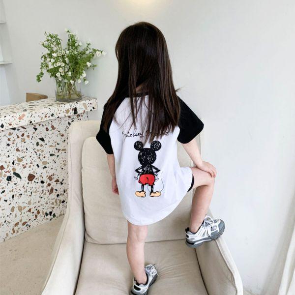 現貨 卡通手繪風休閒T恤長版上衣-白色