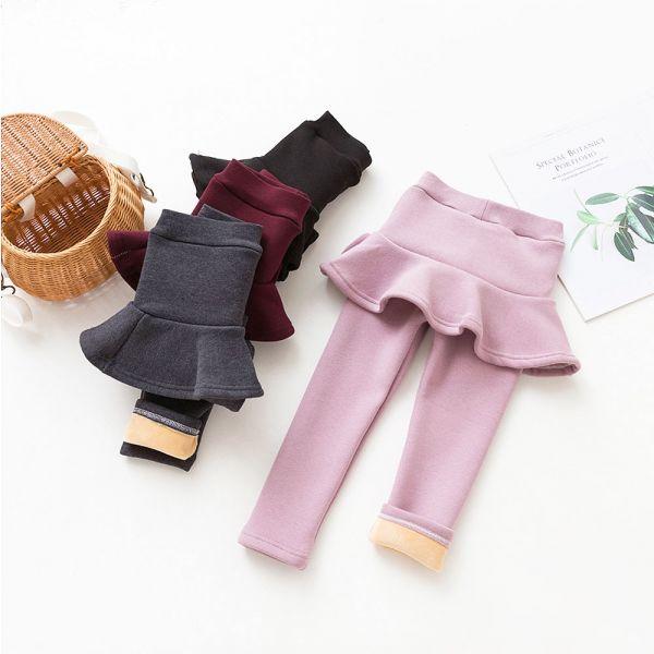 現貨 加絨假兩件裙內搭褲-粉色 現貨 加絨假兩件裙,內搭褲