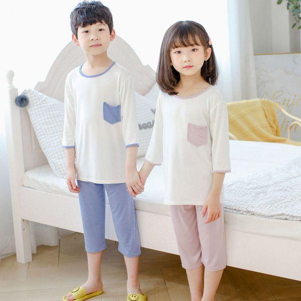 /大童/莫代爾兒童睡衣 居家服空調服-共兩色