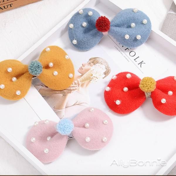 現貨 兒童飾品 珍珠公主蝴蝶結髮夾-共四色 兒童飾品,珍珠公主髮夾,蝴蝶結髮夾