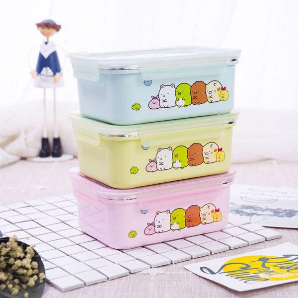 不鏽鋼卡通保溫便當盒 兒童餐具-共三色