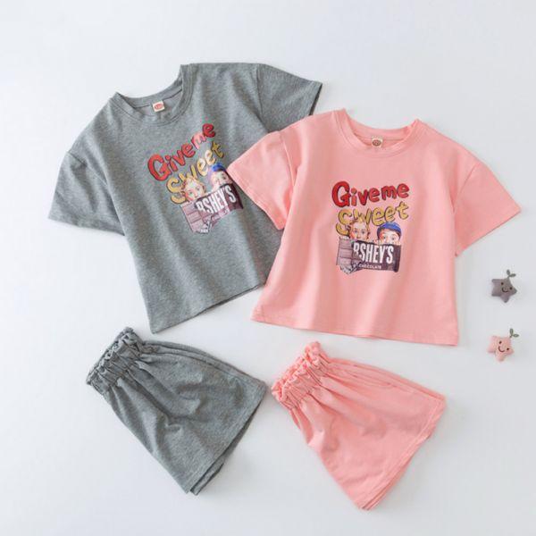 /大童/復古美式 休閒套裝-共兩色