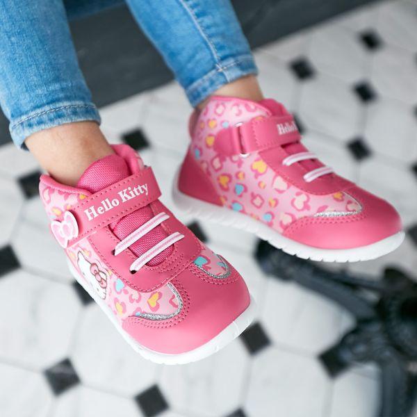 現貨 台灣製HELLOKITTY豹紋低筒休閒鞋-桃紅 HELLOKITTY,休閒鞋,台灣製造