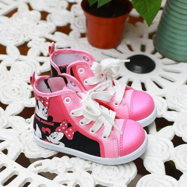現貨 台灣製迪士尼低筒帆布休閒鞋-粉色米妮 帆布休閒鞋,迪士尼,台灣製造