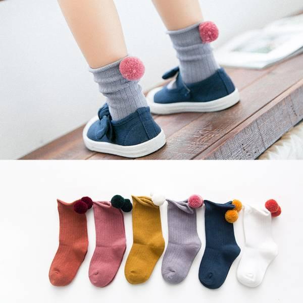 現貨 暖暖毛球 可愛立體造型 低筒童襪-一組五雙