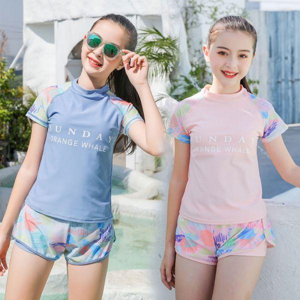 /大童/渡假風 兩截親子泳裝泳衣-共兩色
