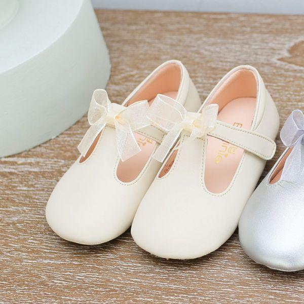現貨 台灣製夢幻蝴蝶結寶寶鞋娃娃鞋-米白 現貨,台灣製,蝴蝶結,寶寶鞋,娃娃鞋,學步鞋