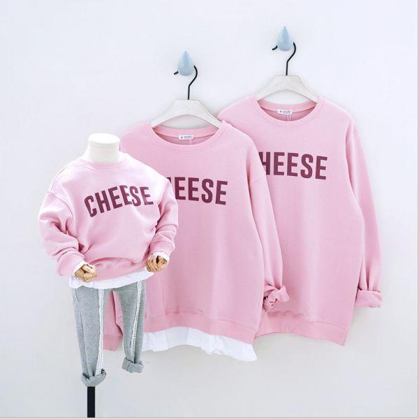 現貨 毛圈英文字母上衣-粉色