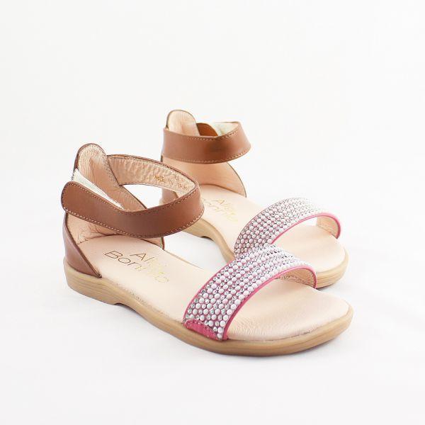現貨 台灣製鑽石糖真皮兒童涼鞋-桃紅 女童真皮涼鞋,台灣製童鞋,台灣製涼鞋,女童涼鞋,真皮涼鞋