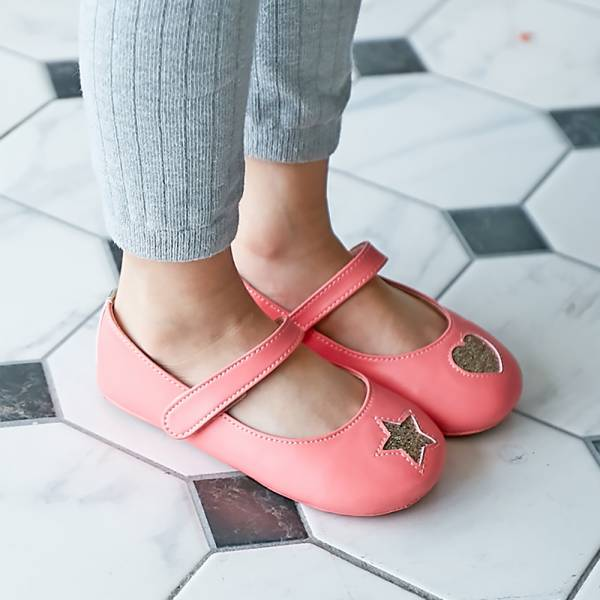 現貨 台灣製不對稱金蔥寳寳鞋娃娃鞋-粉色 台灣製,寳寳鞋,娃娃鞋,學步鞋