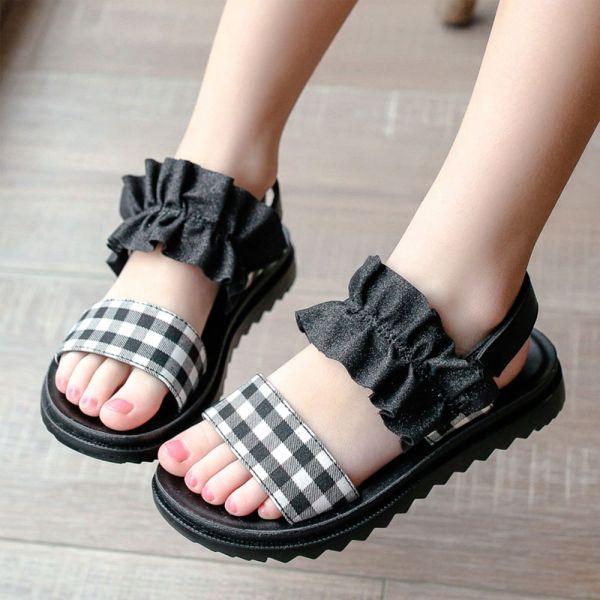 現貨/大童/軟底時尚涼鞋-黑色