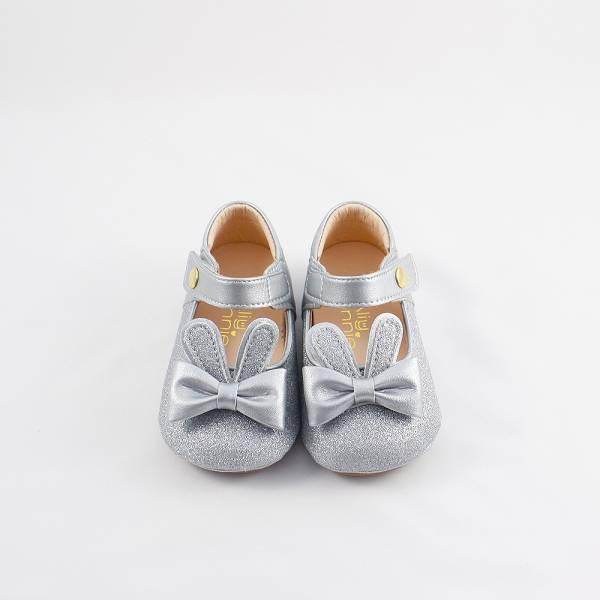 現貨 台灣製兔子跳跳寳寳鞋娃娃鞋-銀色 現貨,台灣製,寳寳鞋,娃娃鞋,學步鞋