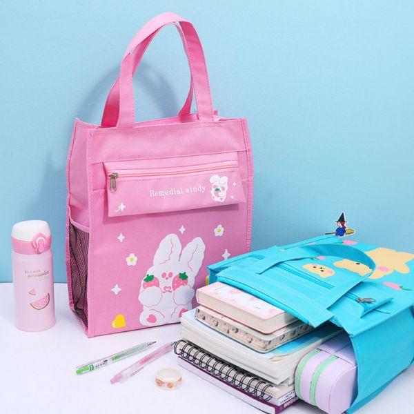 /上學好物/大容量A4文具袋手提袋 補習袋-共六色