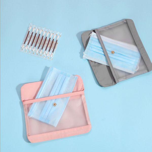 攜帶方便 透明口罩收納袋-共兩色 攜帶方便,口罩收納袋