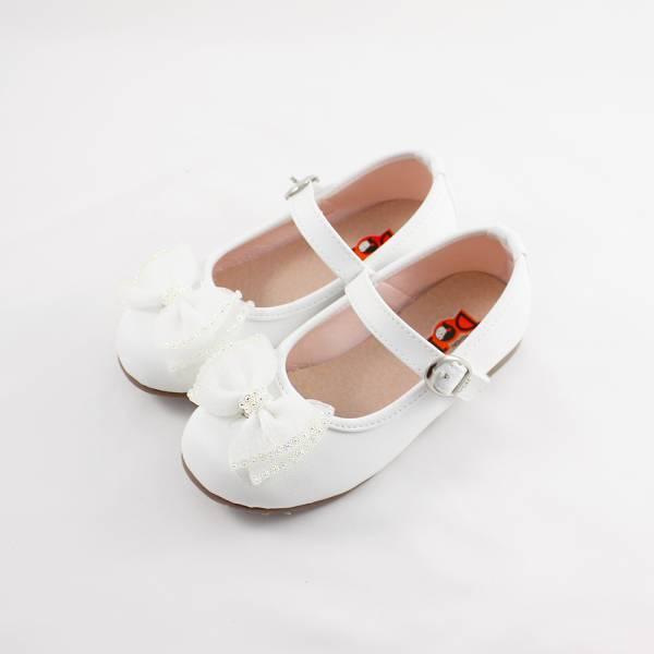 現貨 小花童蝴蝶結娃娃鞋 畢業典禮 音樂會表演 萬聖節-白色 畢業典禮,女童娃娃鞋