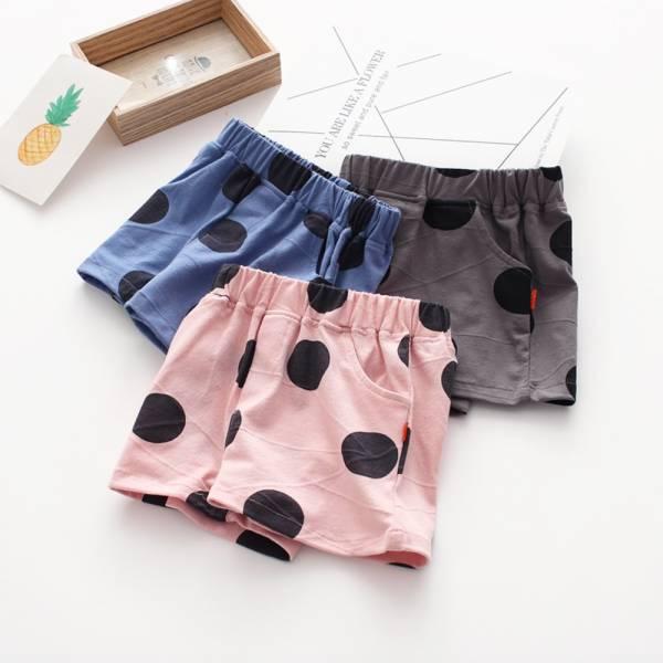 現貨 大圓點兒童夏季短褲 舒適棉褲-共兩色 兒童夏季短褲,舒適棉褲