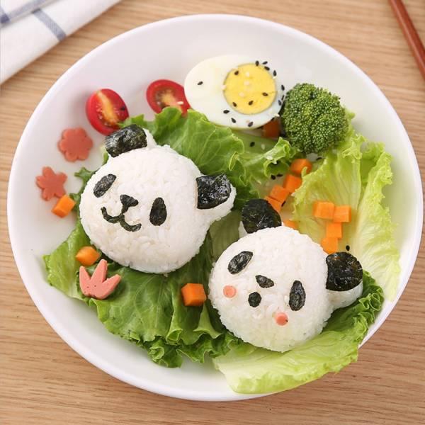 野餐好幫手 熊貓飯糰模具組