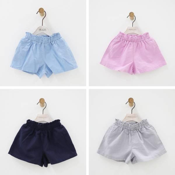 現貨 女童夏季短褲 竹結棉透氣短褲-共兩色 現貨,女童夏季短褲,竹結棉透氣短褲