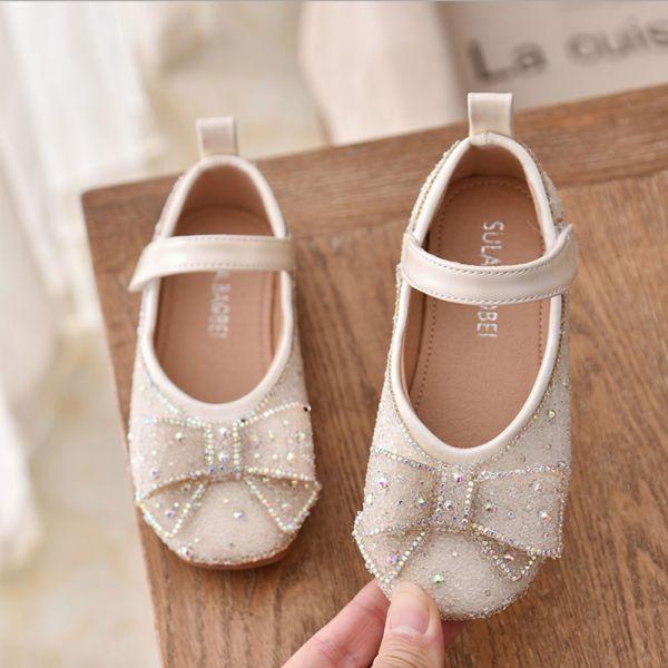 /大童/blingbling水鑽娃娃鞋-米白