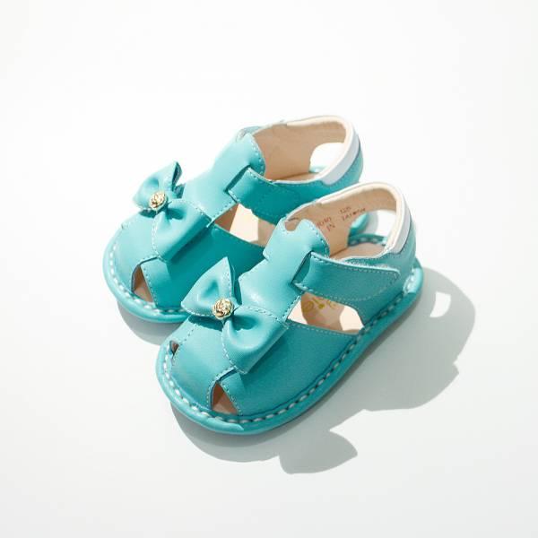 現貨 薔葳蝴蝶結寶寶涼鞋-綠色 寳寳涼鞋,寶寶學步鞋,學步涼鞋