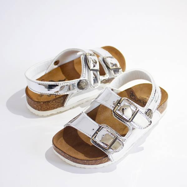 現貨 金屬感休閒親子涼拖鞋-銀色 親子鞋,涼拖鞋,台灣製兒童涼鞋,台灣製童鞋