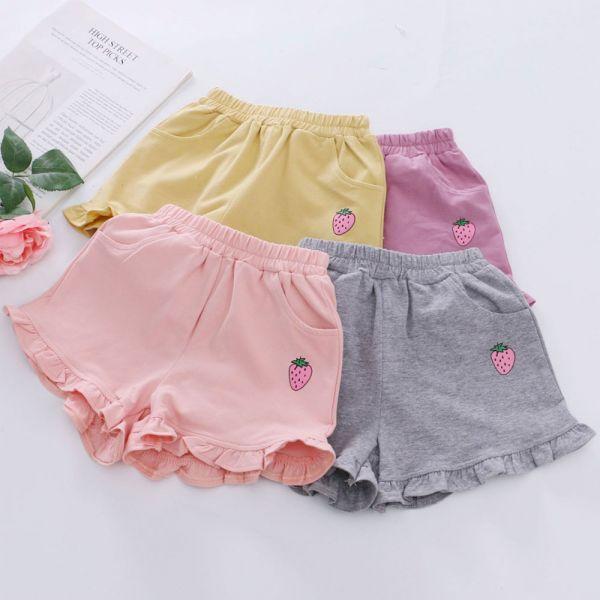 /現貨/草莓圖案甜美棉質短褲-共兩色