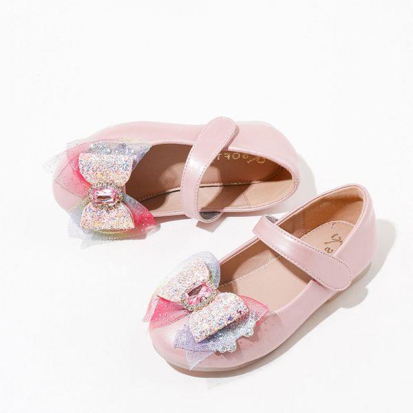 /中大童/蝴蝶結寶石娃娃鞋-粉色 大童娃娃鞋,蝴蝶結娃娃鞋,寶石娃娃鞋,女童娃娃鞋,女童公主鞋,艾莎娃娃鞋