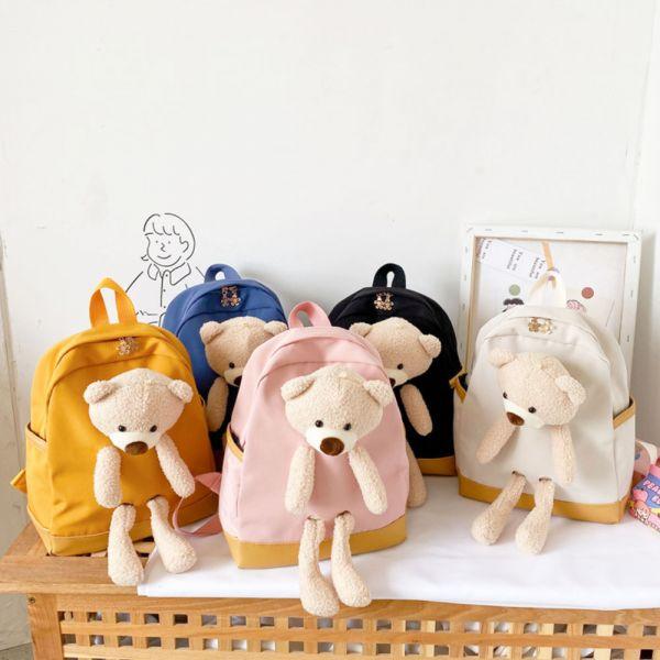 可愛小熊兒童雙肩背包-共五色