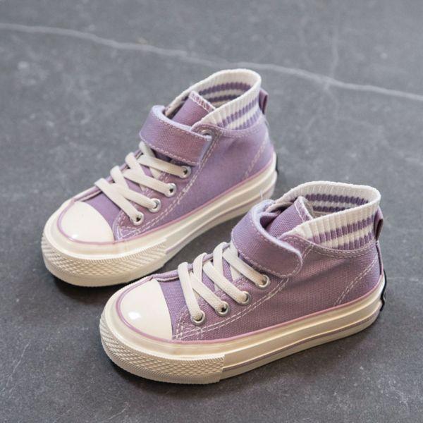 /大童/免綁鞋帶低筒帆布鞋-紫色 兒童低筒帆布鞋,兒童帆布鞋,兒童休閒鞋