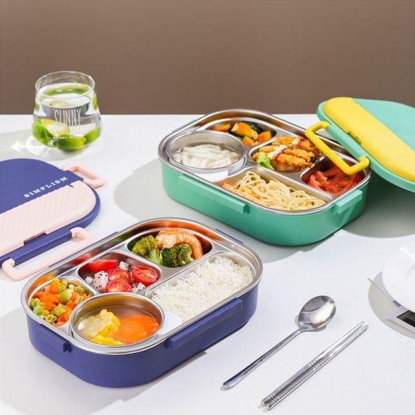 /上學好物/304不鏽鋼便當盒 含湯碗餐具-共三色