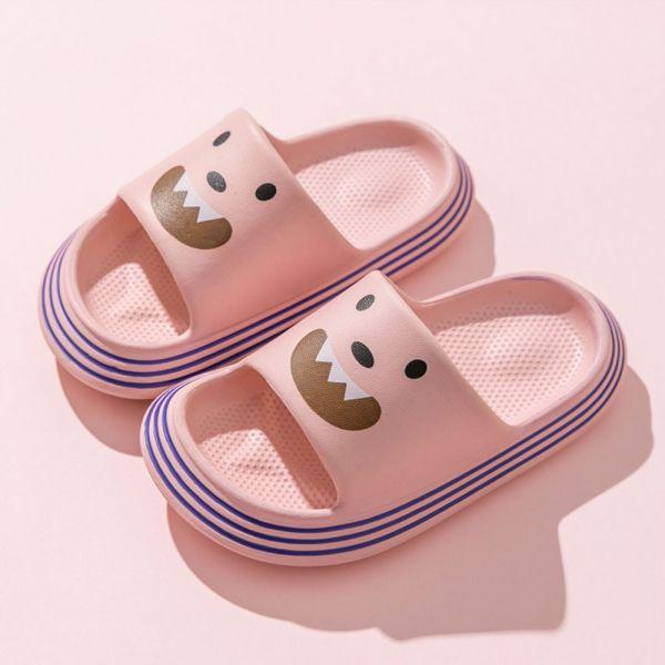 /中大童/小怪獸防水防滑拖鞋-粉色